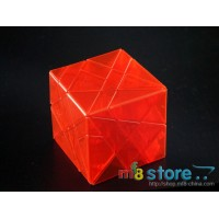 Duo Axis Cube (Transparent red)